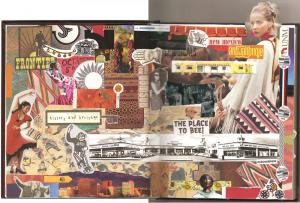 Gluebook collage featuring magazine images