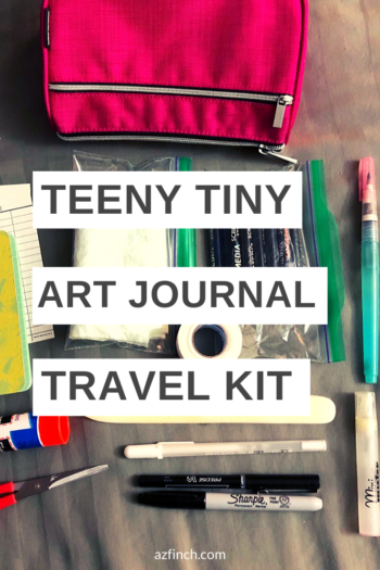 How to make a tiny art journal kit
