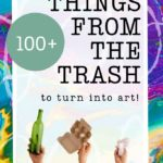 100+ pieces of trash to upcycle into junk journals